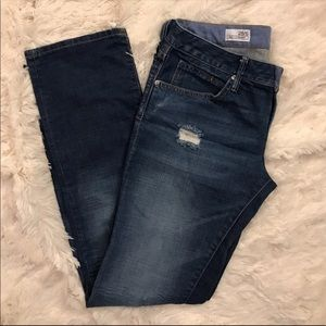 GAP 1969 Easy Straight Distressed Jeans